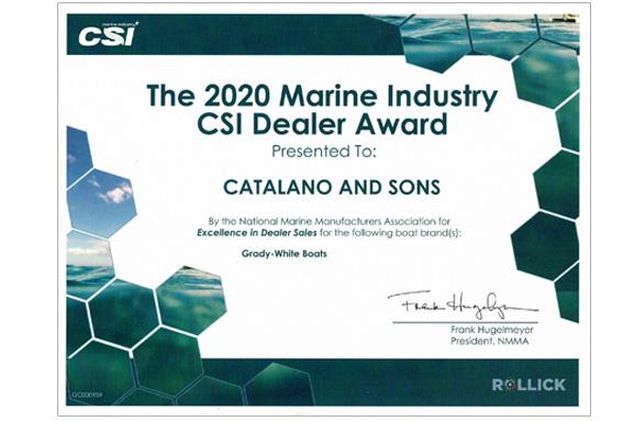 2020 Marine Industry CSI Dealer Award